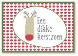 Kerstkaart Bubbel Een dikke kerstzoen !_