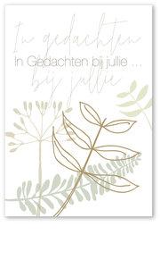 Botanic rouwkaart in gedachten bij jullie