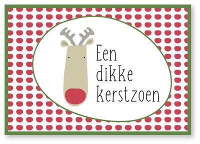 Kerstkaart Bubbel Een dikke kerstzoen !