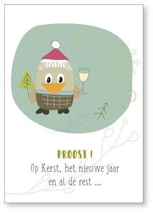 Kerstkaart Drop Proost !