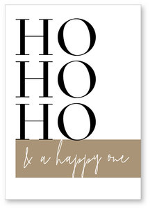 Kerstkaart Hohoho  Hohoho a happy one