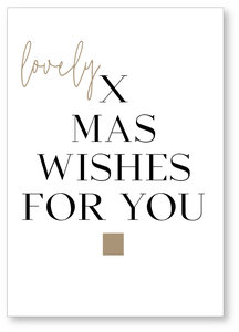 Kerstkaart Hohoho Lovely Xmas whishes for you