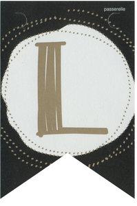 Lettervlag gold L