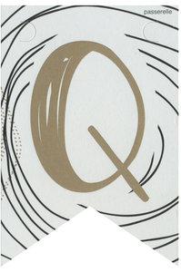 Lettervlag gold Q