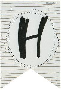 Lettervlag gold H