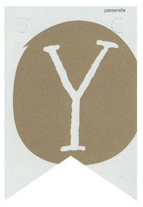Lettervlag gold Y