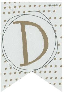 Lettervlag gold D