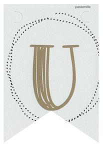 Lettervlag gold U