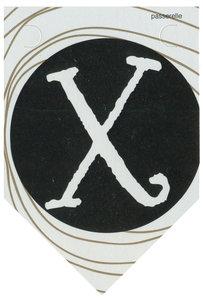 Lettervlag gold X