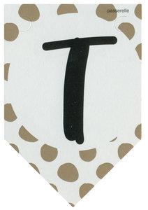 Lettervlag gold T